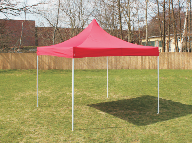 Nůžkový stánek 3x3m, červený