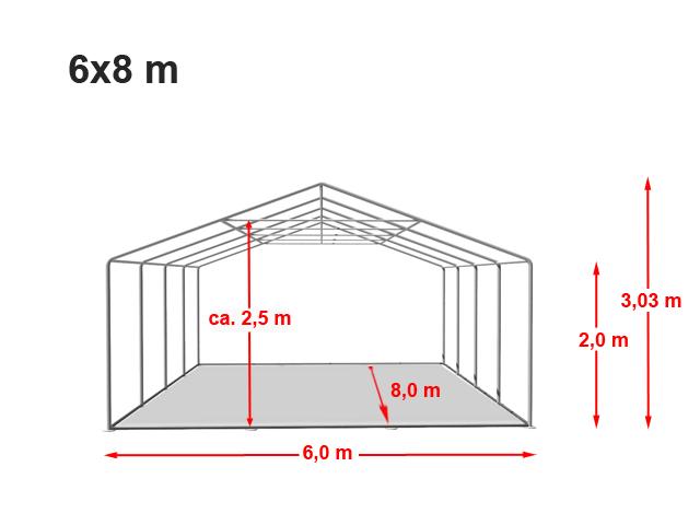 Párty stan Prémium 6x8m