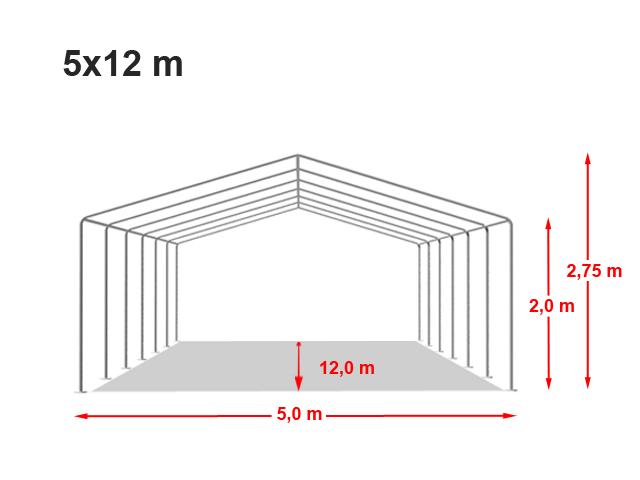 Párty stan ECONOMY 5x12m